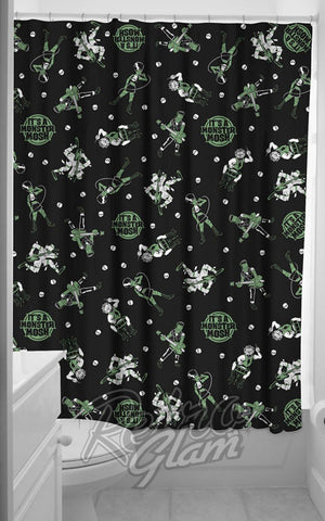 Sourpuss Monster Mosh Shower Curtain