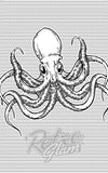Sourpuss Octopus Shower Curtain