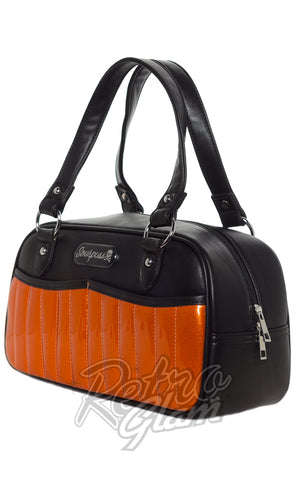 Sourpuss retro inspired Sabrina Purse in halloween Orange front