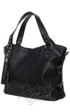 sourpuss savage purse in black side