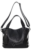 sourpuss savage purse in black rock and roll