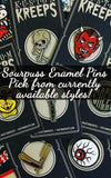 Sourpuss Kustom Kreeps Enamel Pin -Pick your Pin from our current selection!