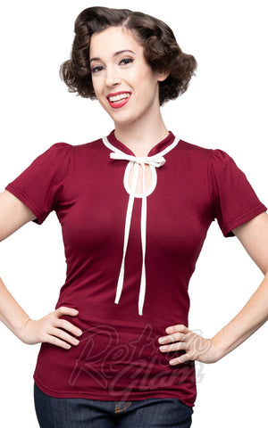 Steady Clothing Keyhole to My Heart Top in Burgundy