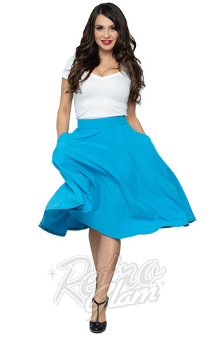 Steady Clothing High Waisted Thrills Skirt in Turquoise