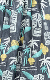Steady Clothing Tiki in Paradise Print Skirt on Black fabric