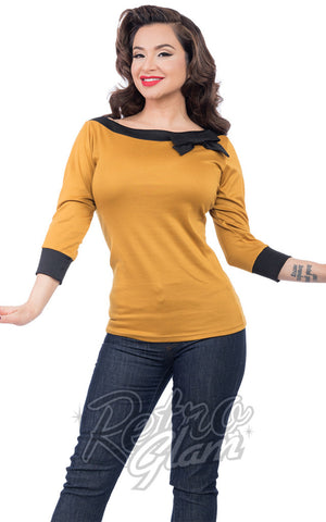 Steady Boatneck Top in Mustard