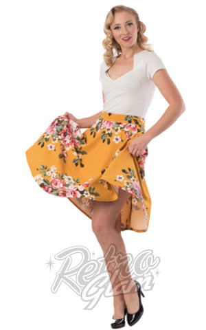 Steady Flora Thrills Skirt in Mustard