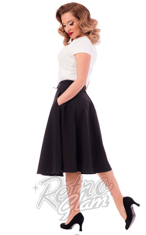 Steady Clothing High Waisted Thrills Skirt in Black Back