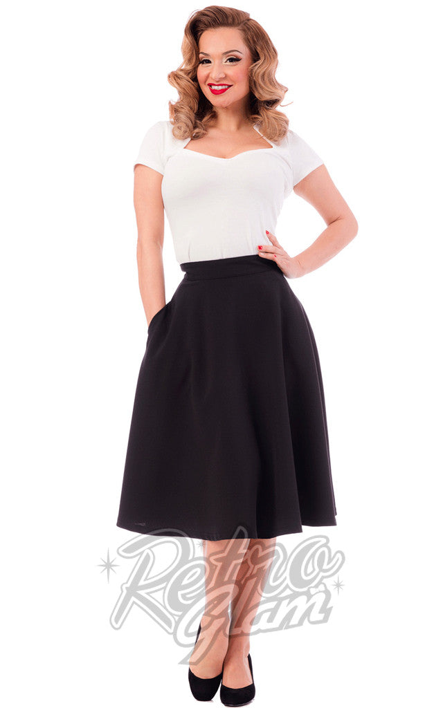 Steady Clothing High Waisted Thrills Skirt in Black