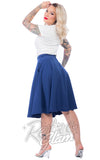 Steady Clothing High Waisted Thrills Skirt in Royal Blue Back