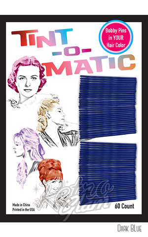 Tint-o-Matic Bobby Pins dark blue