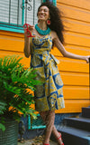 Trashy Diva Lena Sarong Dress in Tiki Batik pinup