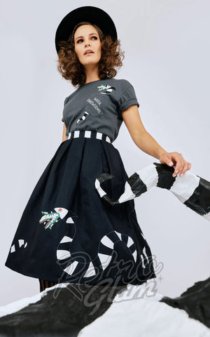 Unique Vintage X Beetlejuice Sandworm Jayne Skirt