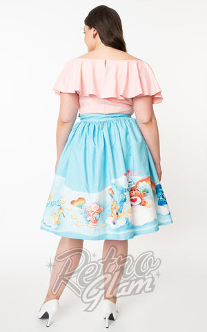 Unique Vintage X Care Bears Gellar Skirt in the Clouds curvy back