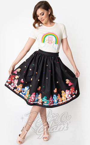 Unique Vintage X Care Bears Skate Line Care Bears Swing Skirt 50s