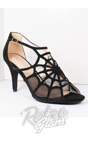Unique Vintage Black Spider Web Charlotte Heel