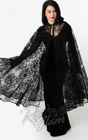 Unique Vintage Clarke Long Spiderweb Cape