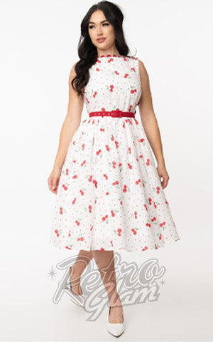 Unique Vintage Livvie Swing Dress cherry