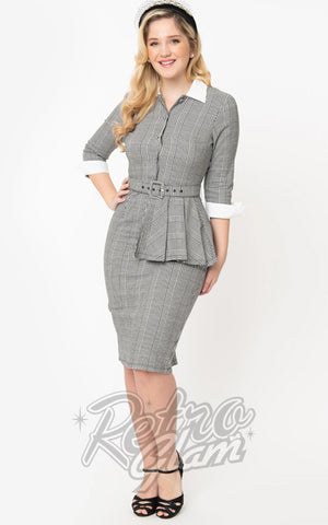 Unique Vintage I Love Lucy Houndstooth TV Star Pencil Dress