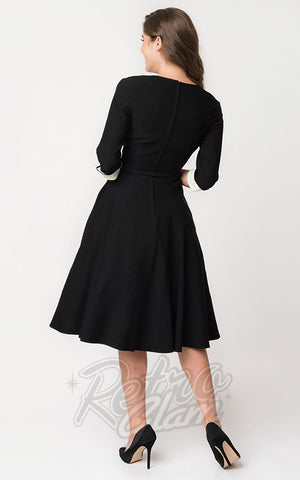 Unique Vintage Lydia Swing Dress back