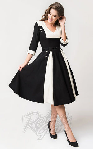 Unique Vintage Lydia Swing Dress