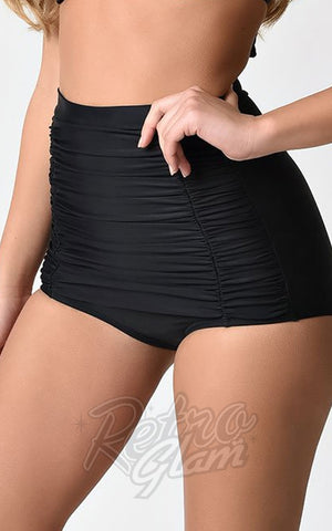 Unique Vintage Monroe Swim Bottoms Black
