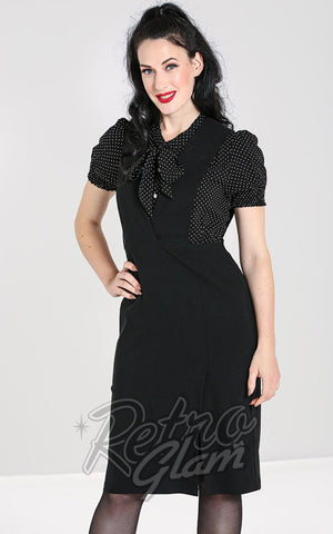 Hell Bunny Claire Pinafore Pencil Skirt in Black