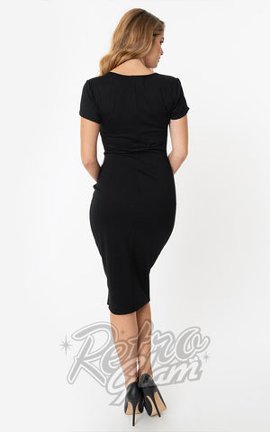 Unique Vintage Robbie Wiggle Dress in Black back