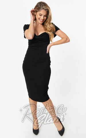 Unique Vintage Robbie Wiggle Dress in Black