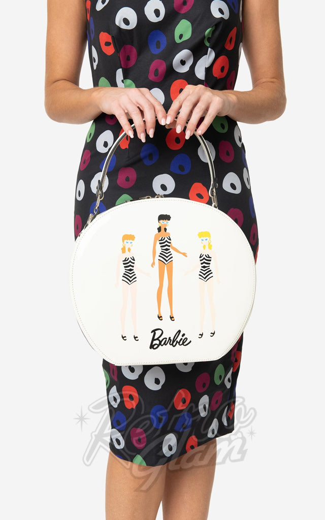 Barbie X Unique Vintage Cream Swim Beauties Circle Bag