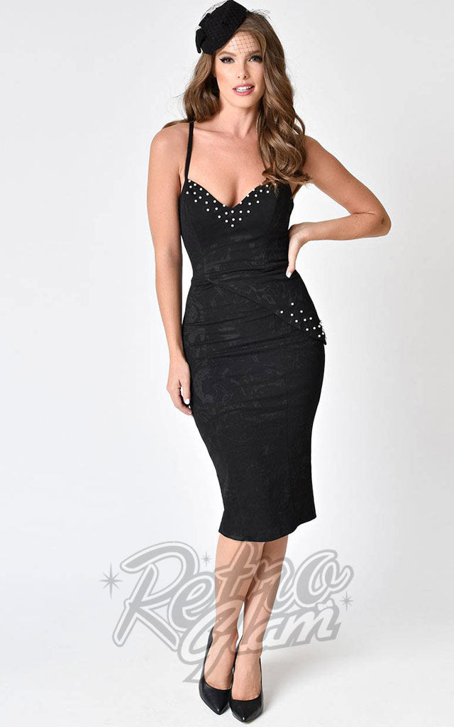 Janie Bryant For Unique Vintage Tallulah Wiggle Dress in Black