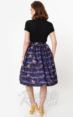 Unique Vintage The Wolf Man Swing Skirt back