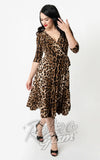 Unique Vintage Leopard Kelsie Dress front