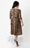 Unique Vintage Leopard Kelsie Dress back