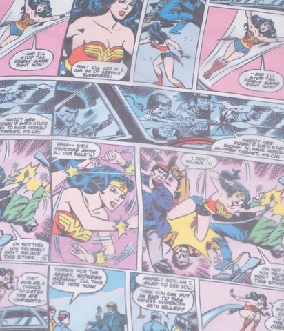Unique Vintage X Wonder Woman Comic Print Hair Scarf detail