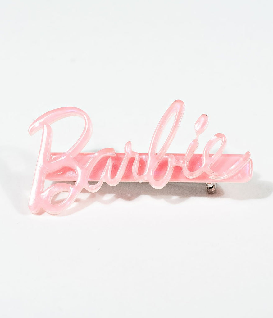 Unique Vintage Barbie Signature Pin in Pink