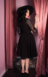 Vixen by Micheline Pitt Frenchie Swing Dress in Black back