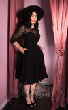 Vixen by Micheline Pitt Frenchie Swing Dress in Black side