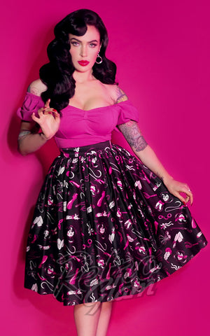 Vixen by Micheline Pitt Vixen Swing Skirt in Frisky Fetish