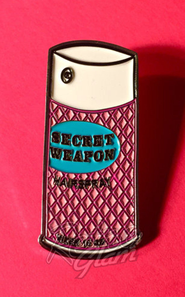 Vixen by Micheline Pitt Secret Weapon Hairspray Lapel Pin