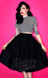 Vixen by Micheline Pitt Vixen gathered Skirt in Black with pockets flared front