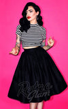 Vixen by Micheline Pitt Vixen gathered Skirt in Black with pockets front with crinoline
