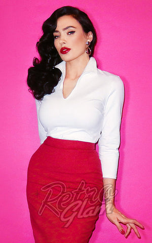 Vixen by Micheline Pitt Vixen Top in White