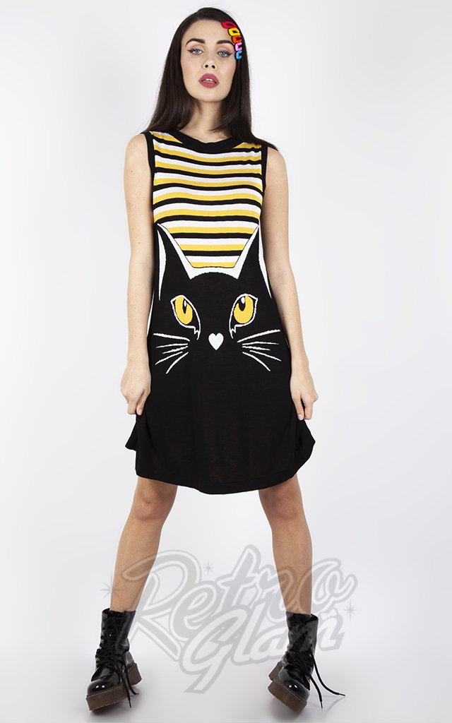 Jawbreaker Telepathic Striped  Cat Dress