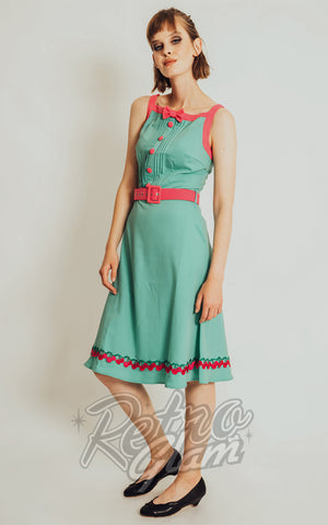 Voodoo Vixen green Nelly Dress