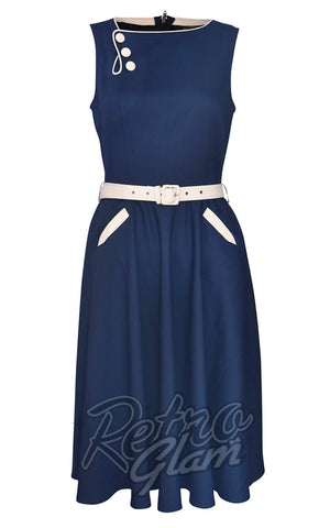 Voodoo Vixen Seaside Navy Skater Dress