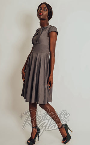 Voodoo Vixen Geneva Dress in Grey