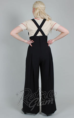 Voodoo Vixen Blaine Jumpsuit in Black back