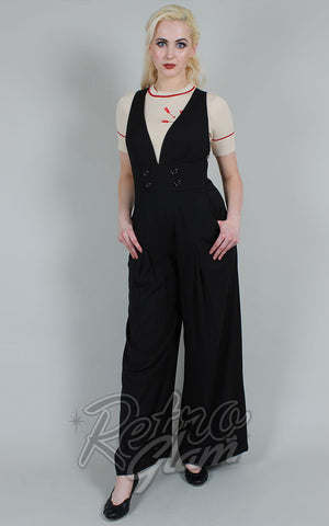 Voodoo Vixen Blaine Jumpsuit in Black