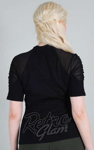 Voodoo Vixen Camden Keyhole Top in Black back